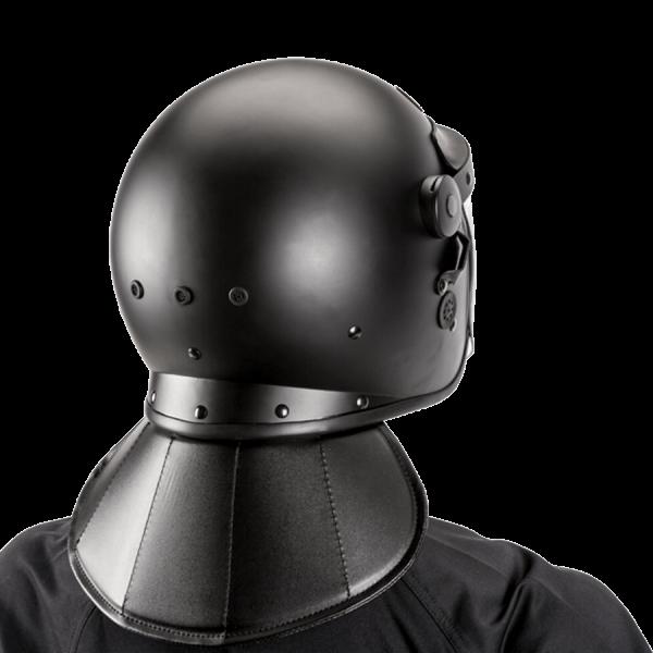 Riot Helmet, One-size fit, Black Matte, Bubble Visor - back view
