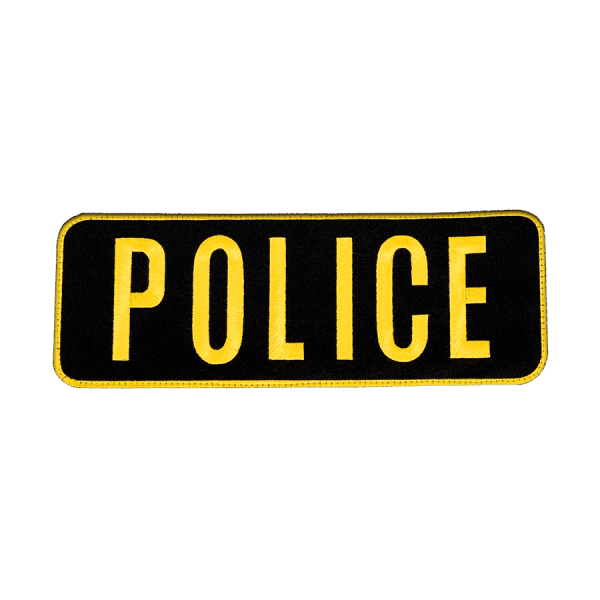 """""""POLICE"""" Large Embroidered Name Plate – LE Gold"""